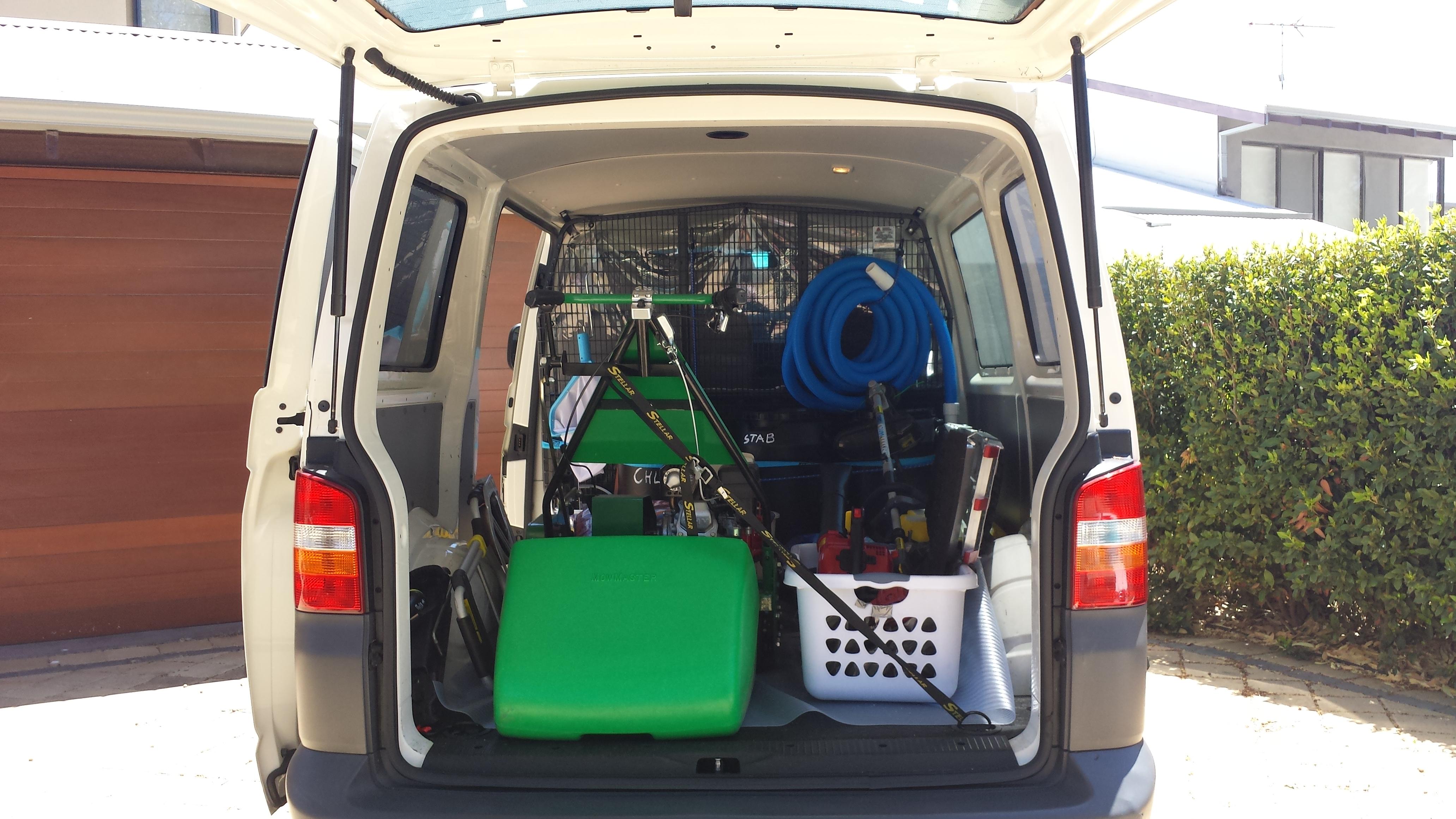 Pool and garden maintenance services services parden for Garden maintenance van